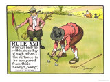 "Rule XVI: When Ye Balls Lie Within Six Inches of Each Other  from ""Rules of Golf"""