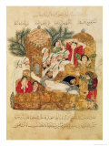 "Burial of a Plague Victim  from ""Al Maqamat"" by Al-Hariri"