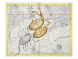 "Constellation of Libra  Plate 7 from ""Atlas Coelestis "" by John Flamsteed  Published in 1729"
