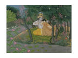 Krishna and Radha Embracing in a Grove  Kangra  Himachal Pradesh  Pahari School  circa 1785