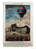 The First Ballooning Experiment at the Chateau De Versailles  19th September  1783
