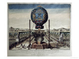 View of the Montgolfier Brothers' Balloon Experiment in the Garden of M Reveillon