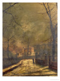 Autumn Scene  Leeds  1874