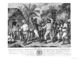 A Cudgelling Match Between English and French Negroes on the Island of Dominica  1779
