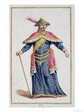 Yu Emperor of China from Receuil Des Estampes  Representant Les Rangs Et Les Dignites