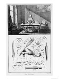 """The Art of Writing  Illustration from the """"Encyclopedie"""" by Denis Diderot 1763"""