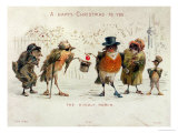 The Kindly Robin  Victorian Christmas Card