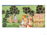 Lakshmana Consulting the Heads of the Monkey Armies  from the Ramayana