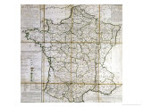 Map of France Divided into Provinces