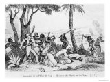 Burning of the Plaine Du Cap  Haiti  1794