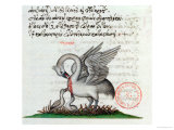 A Pelican Piercing Its Breast to Feed Its Young  from a Bestiary by Manuel Philes  1566