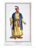 Aurengzeb  Great Khan of the Mongol Hordes from Recuil Des Estampes