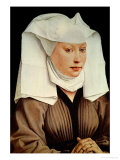 Portrait of a Young Woman in a Pinned Hat  circa 1435