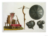 "Milanese Chariot  Crossbow and Armour  Plate 17 from ""Le Costume Ancien Et Moderne"""