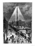"""Illustration from """"Robur Le Conquerant"""" by Jules Verne Paris  Hetzel  1886"""