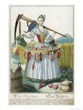 A Peasant Woman  circa 1735