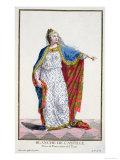 Blanche De Castile Queen of France from Receuil Des Estampes