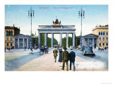 Postcard Depicting the Brandenburg Gate in Berlin