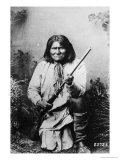 Geronimo Holding a Rifle  1884