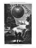 """Frontispiece of """"Around the World in Eighty Days"""" by Jules Verne Paris  Hetzel  Late 19th Century"""