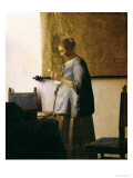 Woman Reading a Letter  circa 1662-63