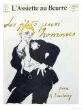 """Little Young Gentlemen  Illustration from """"L'Assiette Au Beurre """" 1909"""