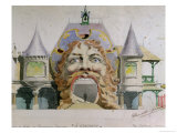 """Design for a Restaurant Facade  """"A Gargantua """" circa 1900"""