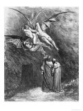 "Virgil (70-19 BC) Dante and the Erinyes  Illustration from ""The Divine Comedy"""