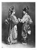 Chinese Actors from Behind  circa 1870