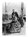 Pierre and Marie Curie in Their Laboratory  circa 1903