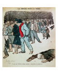 The Misery of Workers and the Unemployed in the Snow  Illustration from &quot;Le Chambard Socialiste&quot;