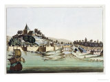 """The Port and Town of Malacca  Malaysia  Illustration from """"Le Costume Ancien Et Moderne"""""""