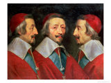 Triple Portrait of the Head of Richelieu  1642