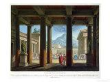 """Entrance to the Amphitheatre  Design for the Opera """"L'Ultimo Giorno Di Pompeii """" 1827"""