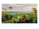 Panoramic View of the Harbour at Nassau in the Bahamas