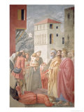 St Peter Distributing the Common Goods of the Church and the Death of Ananias  circa 1427