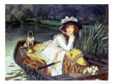 Young Woman in a Boat  or Reflections  circa 1870