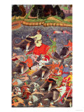 Emperor Akbar Crossing the River Ganges in 1567  from the &quot;Akbarnama&quot; Made by Abu&quot;L Fazi  1590-98