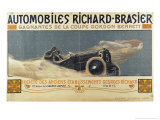 Poster Showing Automobiles Richard-Brasier Winning the Gordon Bennett Cup  1904