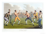 A Prize Fight  Aquatinted by I Clark  Published by Thomas Mclean  1820