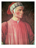 Dante Alighieri Detail of His Bust  from the Villa Carducci Series of Famous Men and Women  c 1450