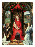 Madonna and Child Enthroned with Two Angels  1480
