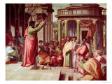 St Paul Preaching at Athens (Sketch for the Sistine Chapel) (Pre-Restoration)