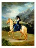 Portrait of Maria Teresa De Vallabriga  the Condesa De Chinchon's Mother on Horseback  1783