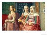 Florentine Ladies  from the Birth of St John the Baptist (Detail)