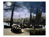 Moonlight on Boulogne Harbour  1868 (Oil on Canvas)