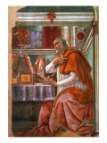 StAugustine in His Cell  circa 1480