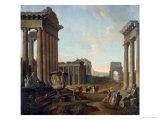 Figures Amidst a Capriccio of Ruins