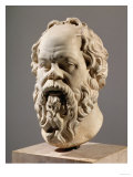 Socrates  Marble Head  Copy from a Bronze from the Pompeion in Athens