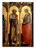 St Peter and St Mary Magdalene  Detail from the Santa Lucia Triptych